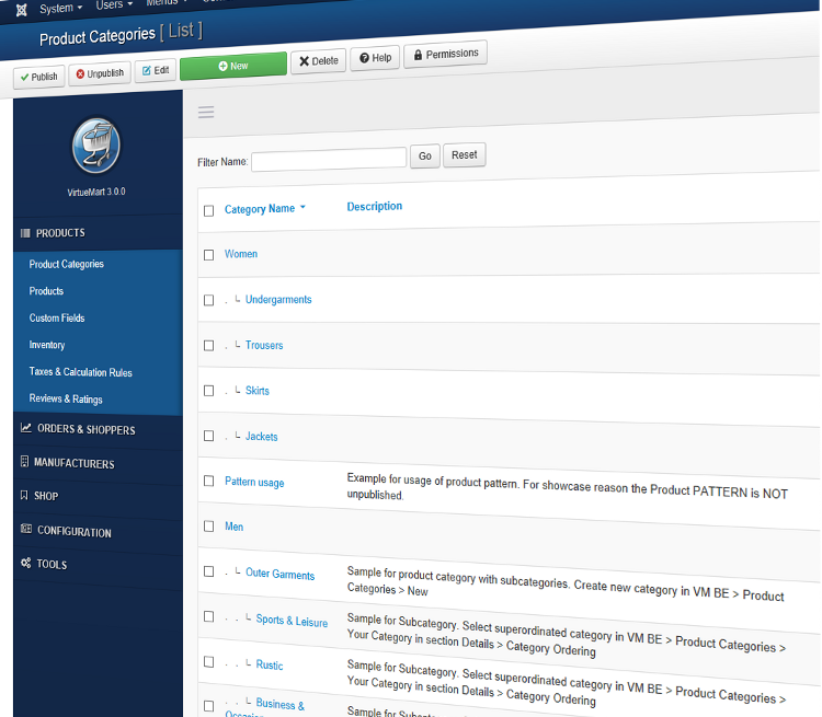 Virtuemart 3 admin template vmadminlab for Joomla administrator templates